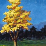 "Tulip Tree 16"" x 20"" (oil on canvas) Sold"