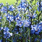 "Bells in Blue 20"" x 24"" (oil on canvas) Sold"