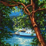 "Brentwood Bay 24"" x 20"" (oil on canvas)"