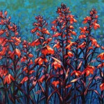 """Cardinals 20"""" x 24"""" (oil on canvas) Sold"""