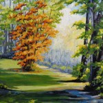 "Cowichan Autumn Walk 22"" x 28"" (oil on canvas)"