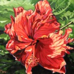 "Dancing Hibiscus 16"" x 20"" (oil on canvas) Sold"
