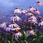 "Echinacea 22""x28"" (oil on canvas)"
