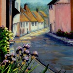 "Iris in Lavenham 24"" x 20"" (oil on canvas) Sold"