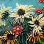 "Sunflower Stew 20"" x 24"" (oil on canvas) Sold"