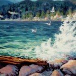 "West Vancouver Seawall 22"" x 28"" (oil on canvas) Sold"