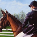 "Ready for Dressage  16"" x 20""  (oil on canvas)  Sold"