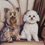 "Sonny & Sassy 24"" x 20"" (oil on canvas)"