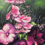 """In the Pink 30"""" X 24"""" (oil on canvas)"""