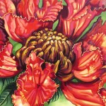 "Mexican Tulip Blossom   20"" X 24""   (oil on canvas)"