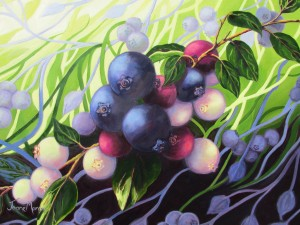 "Wild Blueberries 4  24"" x 30""  (oil on canvas)"