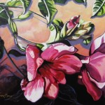 "Mandevilla 16"" x 20"" (oil on canvas) Sold"