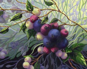 Wild Blueberries 5 20 x 24 (oil on canvas)