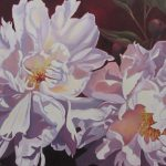 "Sunlit Peonies    24"" x 30""    (sold)"