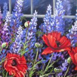 "Lupines & Poppies 20"" x 24""  (Sold)"
