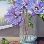 Rose of Sharon in Vase